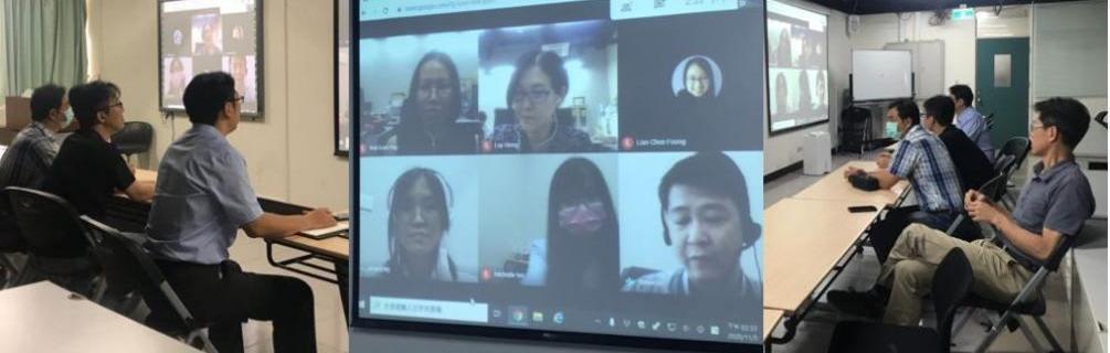 生技系與本校國際姊妹校-馬來西亞UCSI大學Faculty of applied sciences 院長及教師以Google Meeting方式進行學術交流雙邊會談